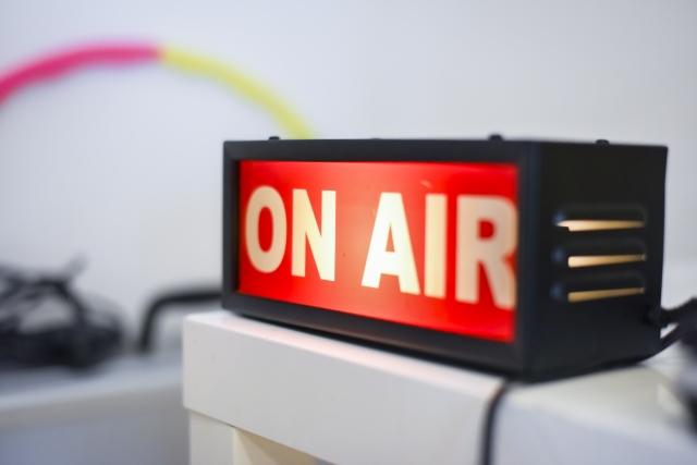 ラジオのオンエアのイメージ