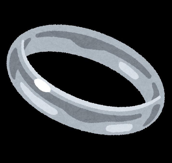 銀の指輪のイラスト